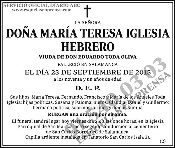 María Teresa Iglesia Hebrero